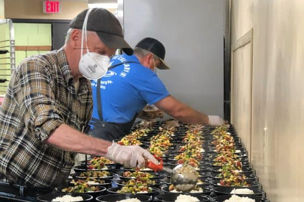 Hunger Relief Partners in Kitchen
